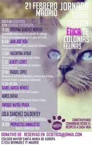 I Jornada Gestión Ética de Colonias Felinas (2015)