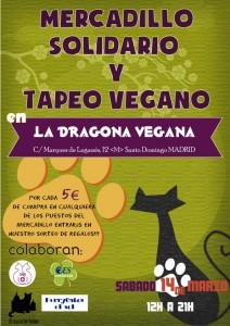 Mercadillo benéfico y tapeo vegano (14/03/2015)